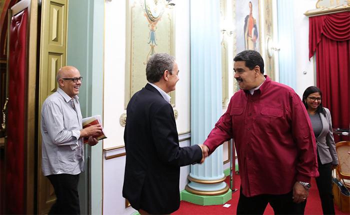 Maduro se reunió con Rodríguez Zapatero en Miraflores