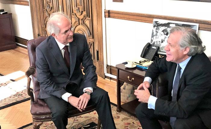 Ledezma habló con Almagro sobre la situación de Venezuela