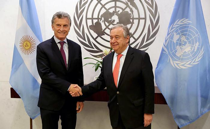 Macri abordó situación de Venezuela en reunión con secretario de la ONU