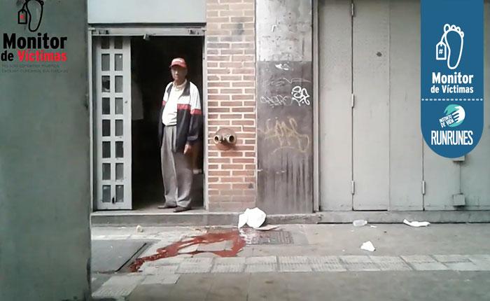 #MonitordeVíctimas Asesinaron a vendedor de zapatos cuando salía de una discoteca con su novia