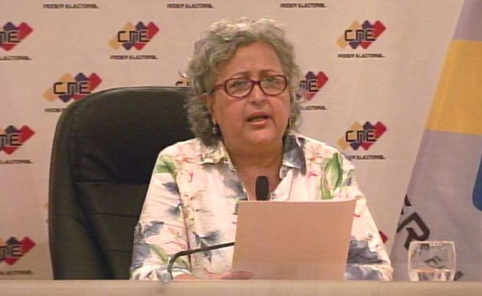 Tibisay Lucena: Están aseguradas todas las garantías electorales