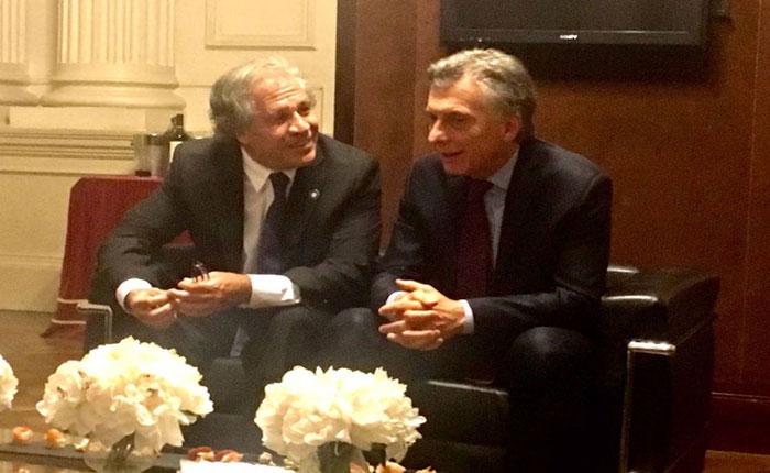Luis Almagro se reunió con Mauricio Macri para discutir la crisis de Venezuela