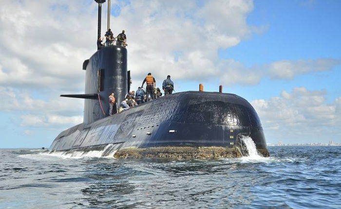Argentina despliega operativo con ayuda internacional para buscar submarino perdido
