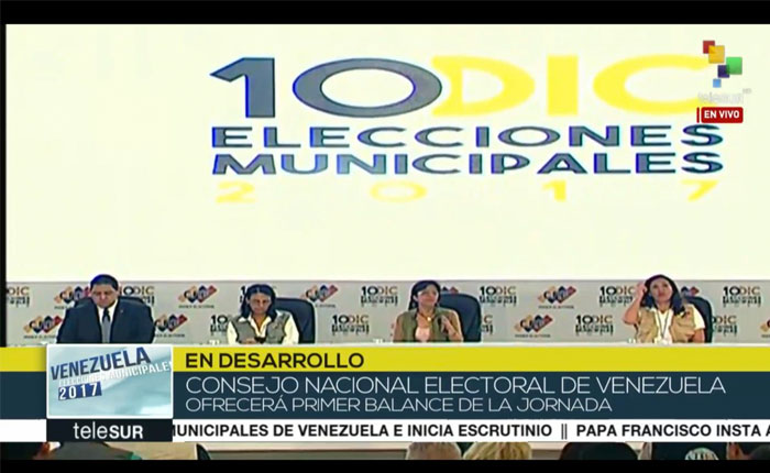 #Municipales2017 Primer boletín oficial del CNE: Oficialismo consigue 41 de 42 alcaldías