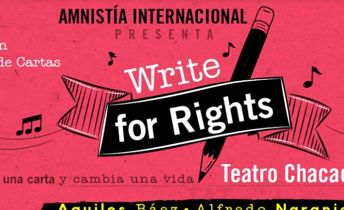"""Concierto """"WriteForRights, escribe por los derechos humanos"""": entrada libre con tu participación"""