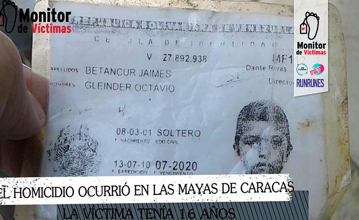 #MonitorDeVíctimas Denuncian que CICPC asesinó a adolescente en Las Mayas