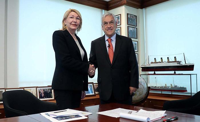 Luisa Ortega Díaz se reunió con el presidente electo de Chile