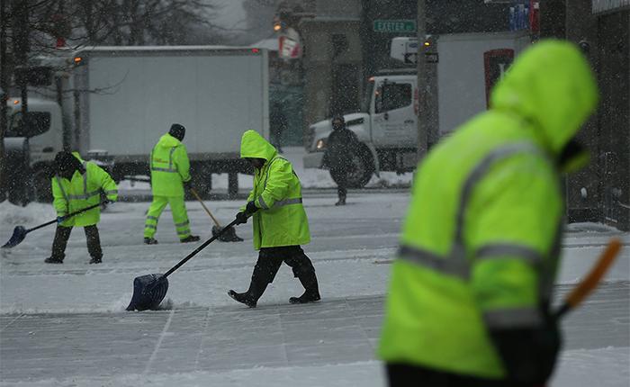 Nieve y frio en Boston