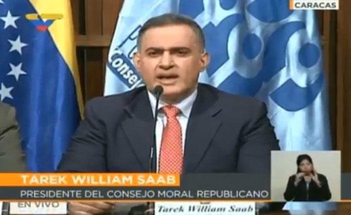 Apareció Tarek William Saab, pero no habló de la masacre de El Junquito sino de las sanciones