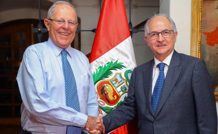 Antonio Ledezma insta a presidente de Perú a sancionar a violadores de DD HH en Venezuela