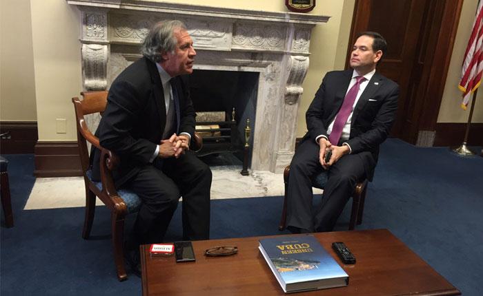 Almagro y el senador Marco Rubio discutieron futuras acciones contra gobierno venezolano