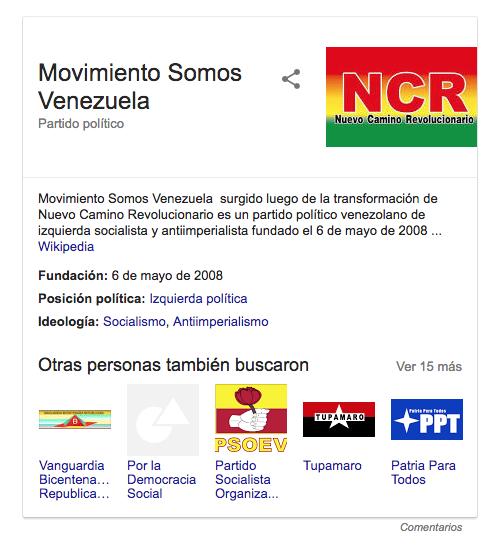 Movimiento Somos Venezuela reemplaza a NCR