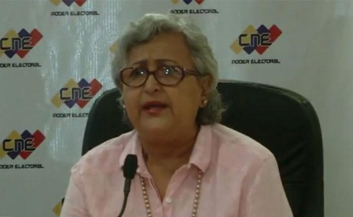 Tibisay Lucena: No estamos preparados para hacer conjunta una elección presidencial con una elección más compleja