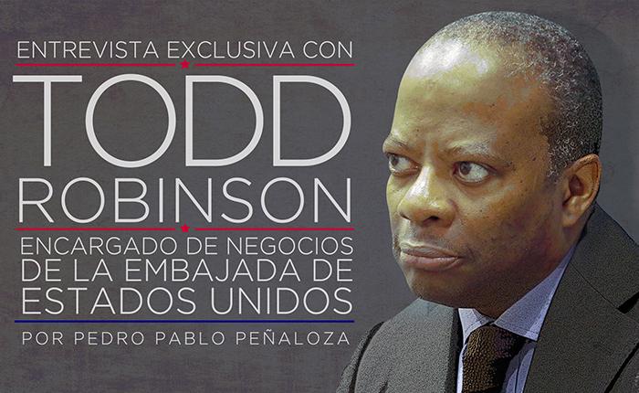 """Todd Robinson: """"Todo está encima de la mesa en cuanto a estrategias para Venezuela"""""""