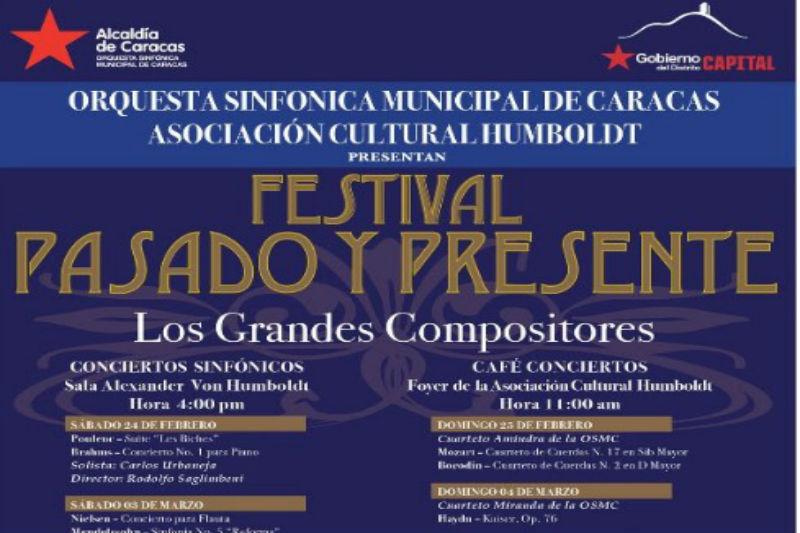 """Orquesta Sinfónica Municipal de Caracas presenta el festival """"Pasado y Presente"""""""