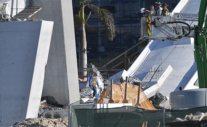 Nadie escuchó aviso de grietas antes del desplome de puente en Miami