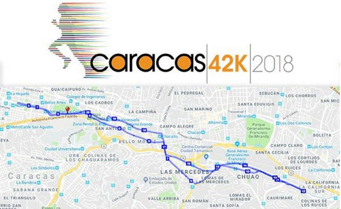 11 avenidas estarán cerradas este domingo por el Maratón Caracas 42K