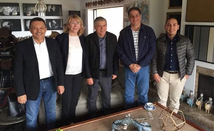 Luis Florido y Luisa Ortega Díaz se reunieron con el expresidente de Colombia César Gaviria