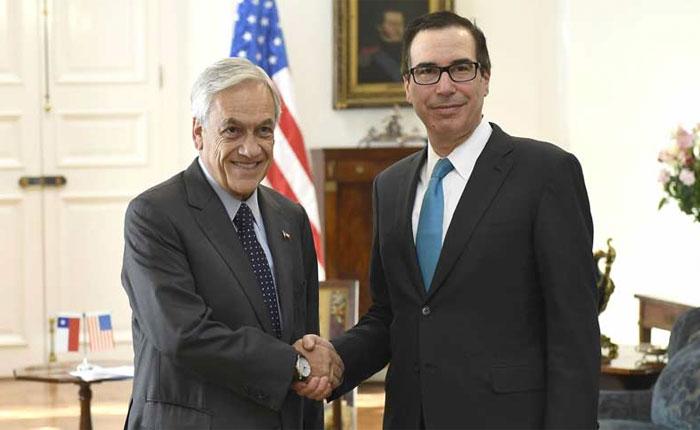 Steven Mnuchin desde Chile: Vamos a seguir imponiendo sanciones