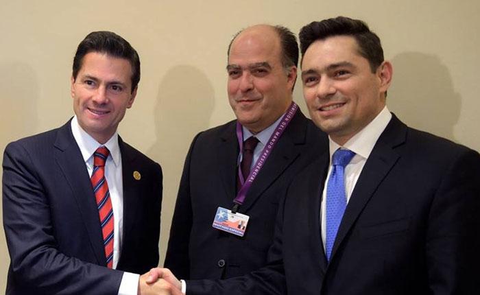 Julio Borges y Carlos Vecchio se reunieron con el presidente de México