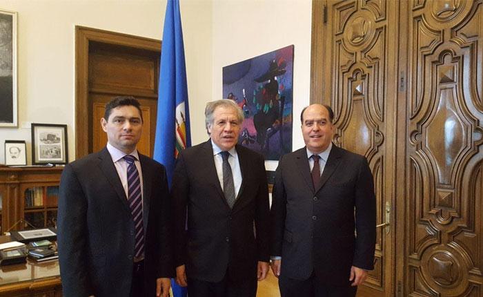 Borges y Vecchio se reunieron con Almagro en la OEA