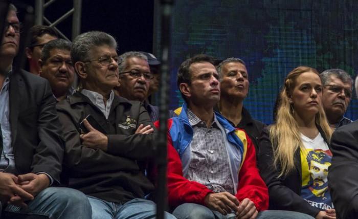 Ramos Allup y Capriles Radonski, una foto por accidente