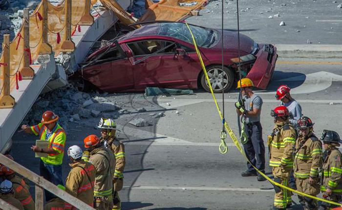 Continúan labores de rescate de víctimas del colapso de puente en Miami