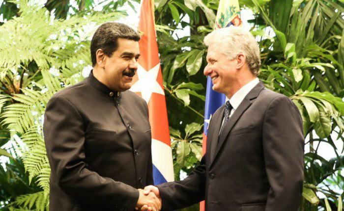 Nicolás Maduro se reúne con nuevo presidente de Cuba