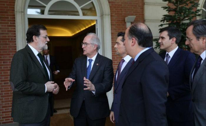 Rajoy se reunió con Veccio, Ledezma y Borges e insistió en elecciones libres