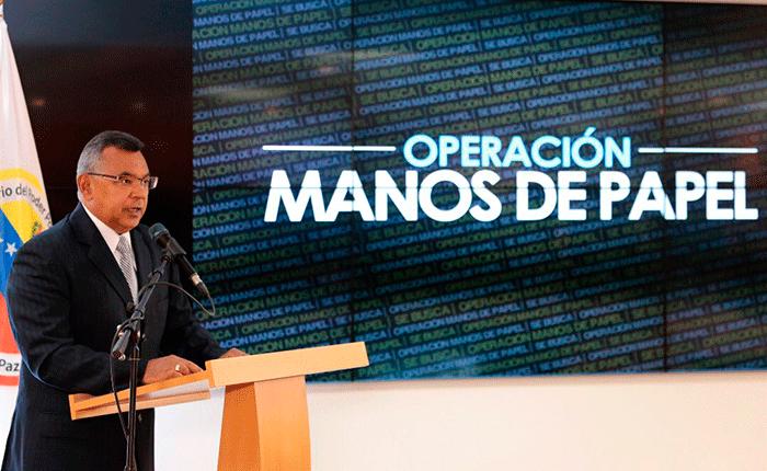 Más de 100 detenidos en operación Manos de Papel