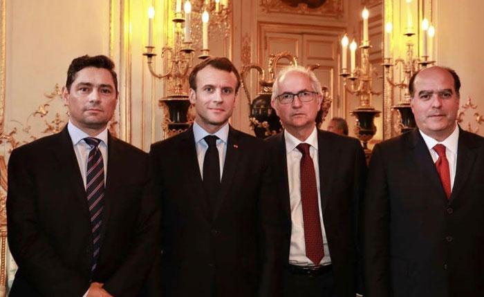 Borges, Ledezma y Vecchio se reunieron con Macron para abordar crisis venezolana