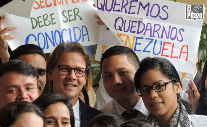"""Lorenzo Mendoza a estudiantes de la ULA: """"Ustedes van a ver una Venezuela diferente"""""""