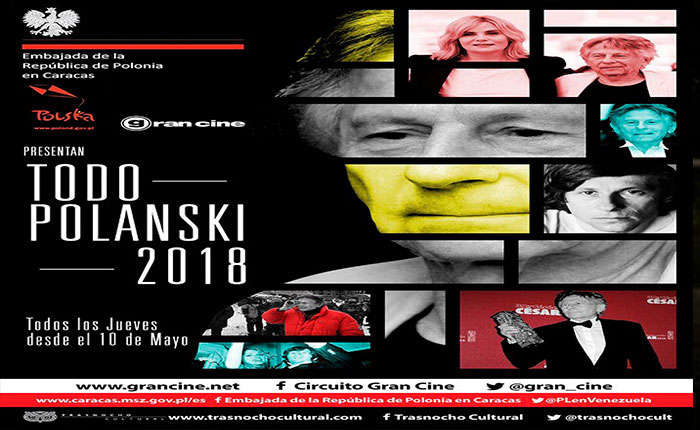 """""""Todo Polanski"""" se exhibirá en el Trasnocho a partir de mayo"""