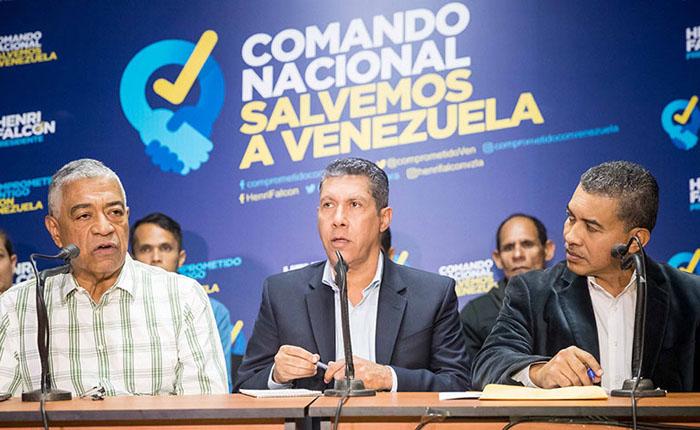 Falcón presenta a Claudio Fermín como su vicepresidente