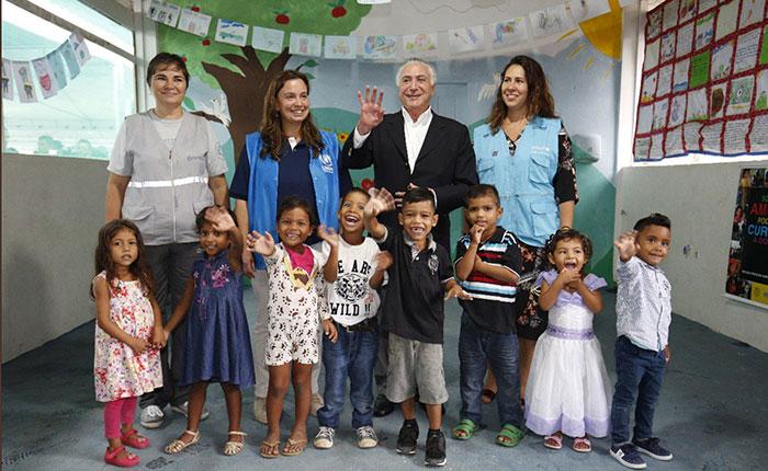 Temer continuará las ayudas a los inmigrantes venezolanos en Brasil