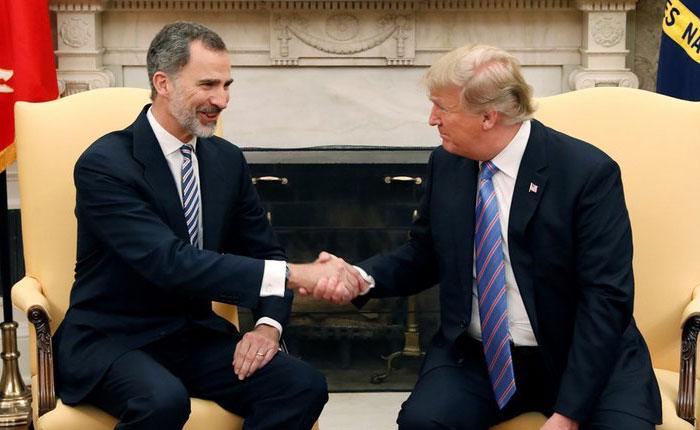 Rey de España pide ayuda a Trump para resolver crisis de Venezuela