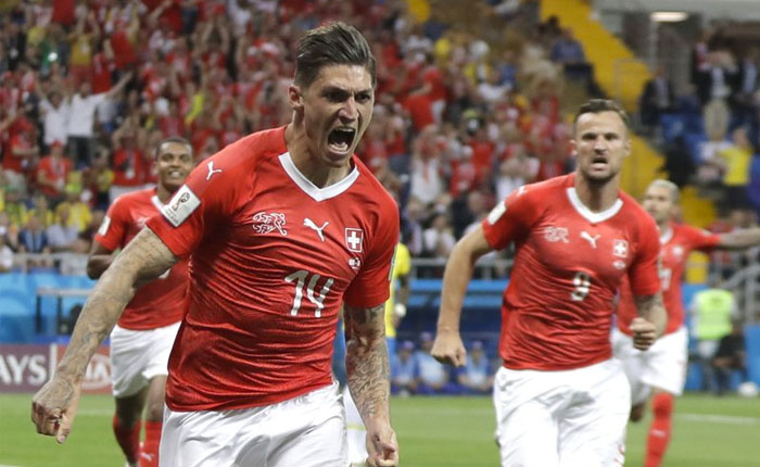 #Rusia2018  Una incansable Suiza le arranca el empate a Brasil