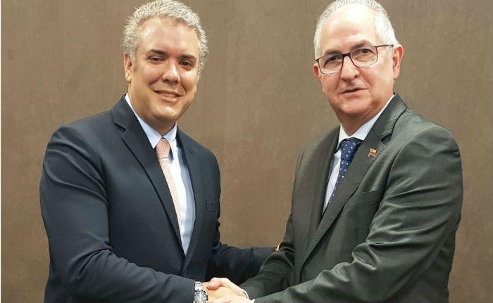 Antonio Ledezma: Iván Duque va con todo para el Tribunal Penal Internacional sobre caso Venezuela