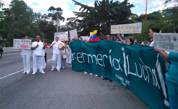 Enfermeras venezolanas exhortaron a los ciudadanos a sumarse al paro