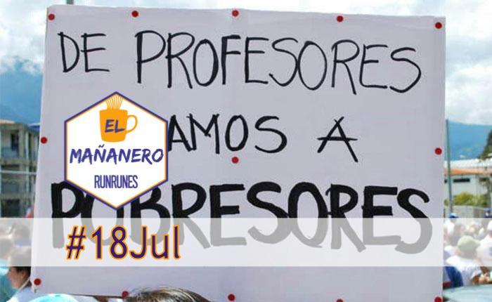 El Mañanero #18Jul: las 8 noticias que debes saber