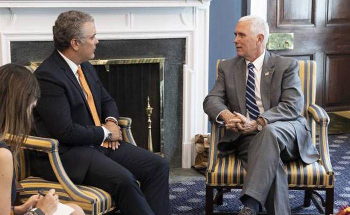 Duque y Pence comprometidos a continuar presionando al régimen en Venezuela