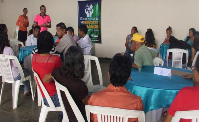 Cedisuc realizó taller sobre derechos humanos en Mariguitar