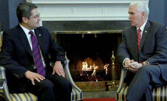 Mike Pence: Presidente de Honduras me dijo que la caravana fue financiada por Venezuela