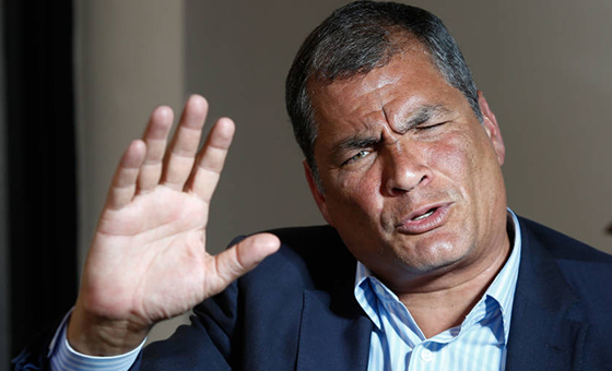 Llaman a juicio a Correa por presunto vínculo con secuestro de opositor