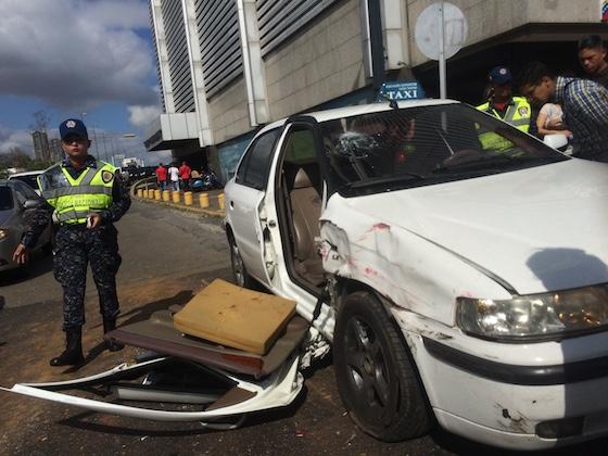 Taxi de la víctima José Uzcátegui