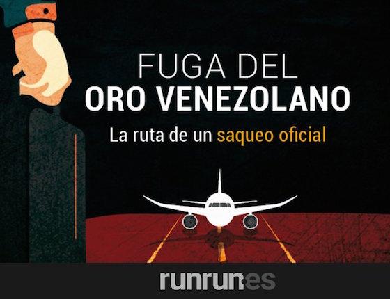 Fuga del oro venezolano: la ruta de un saqueo oficial