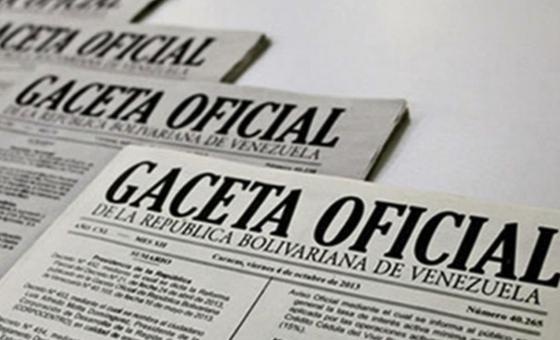 Gaceta Oficial establece creación de
