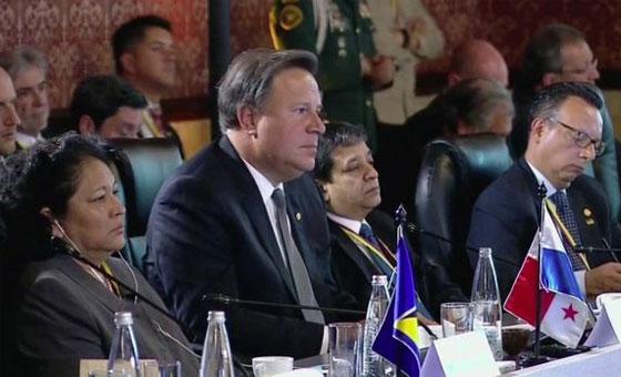 Juan Carlos Varela pidió a Maduro que no eleve la crisis de Venezuela a