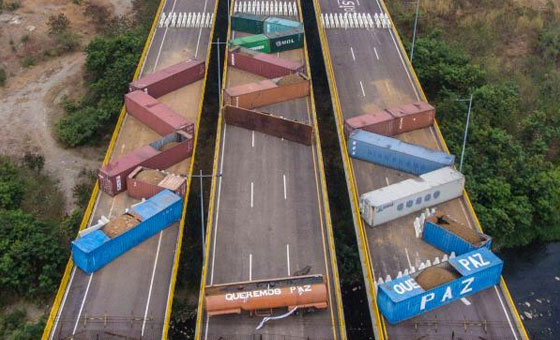 GNB refuerza bloqueo en el puente internacional Tienditas