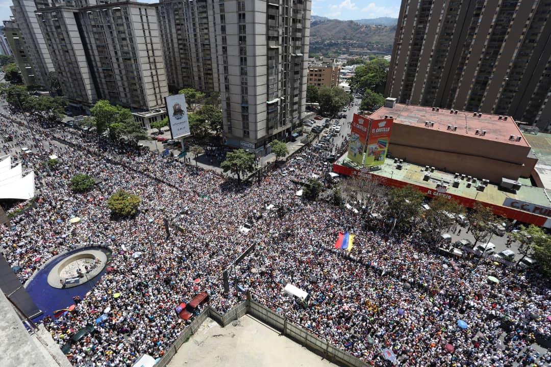 Primera marcha de la Operación Libertad